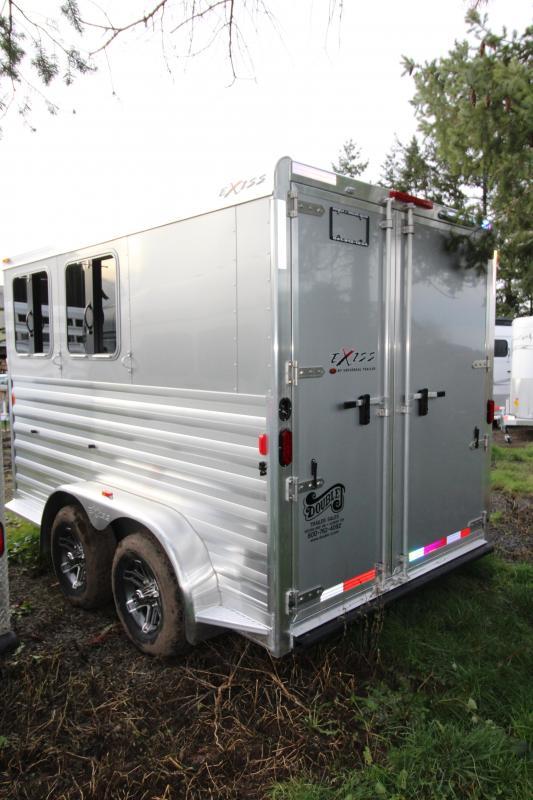 2018 Exiss Express XT 2 Horse Trailer - All Aluminium - Easy Care Flooring - Air Flow Dividers - Silver Exterior color