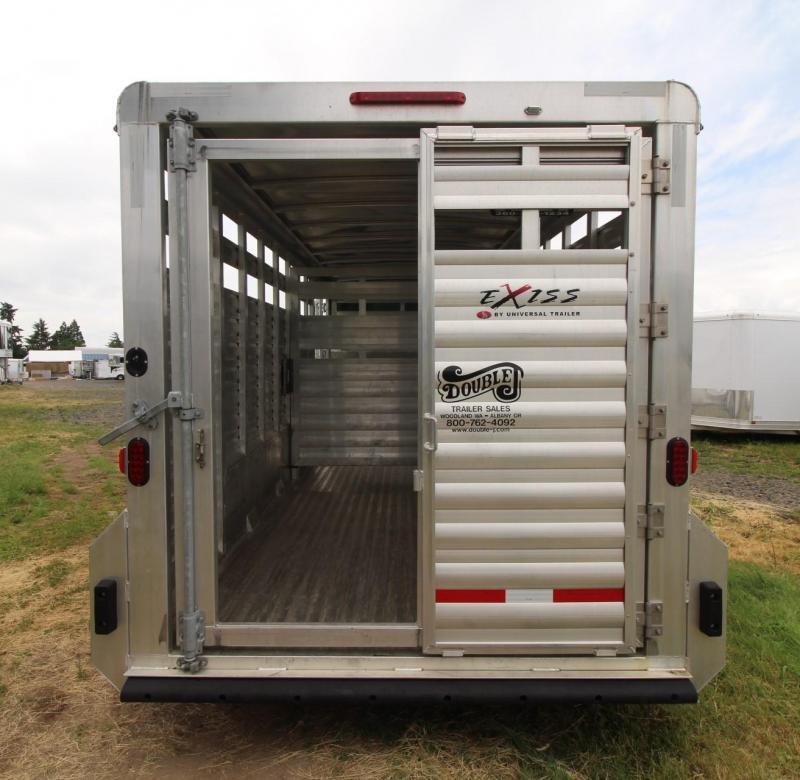 2016 Exiss STK 20ft Livestock Trailer w/ Rear Sort Door & Center Gate