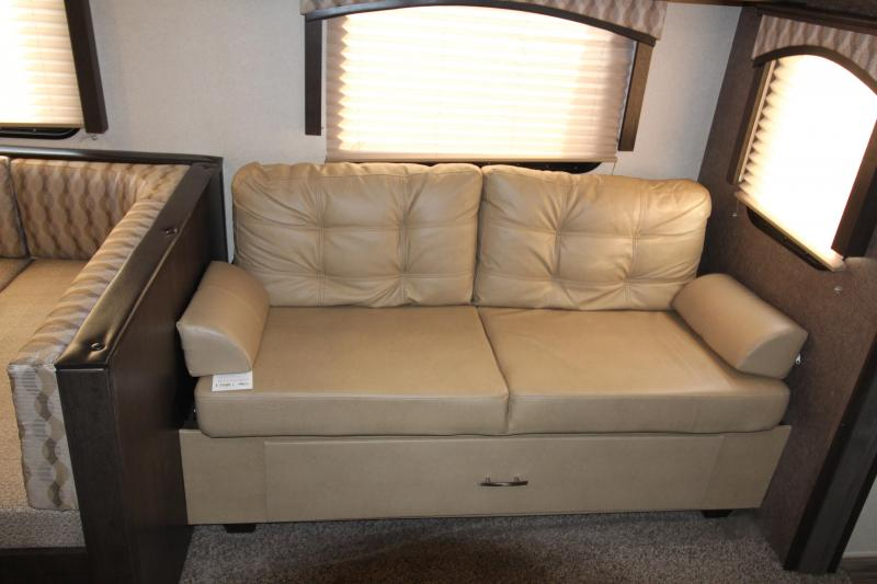 2018 Forest River EVO 2990 Travel Trailer - NEW Floorplan! Sleeps 8! - Outside Kitchen - Dinette and Sofa in Slide Out - 3 Bunk Beds! - Golden Ash Interior Decor - PRICE REDUCED BY $2200
