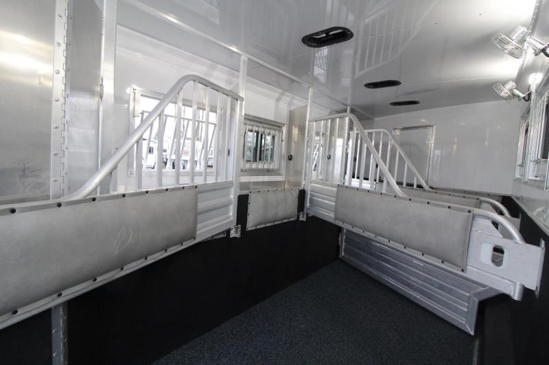 2018 Featherlite 9821 Liberty 17' Living Quarters w/ Slide - Couch & Dinette - Bar - Central Vacuum - And Much More! - 4 Horse Trailer w/ fans in horse area - Hay Pod - PRICE REDUCED