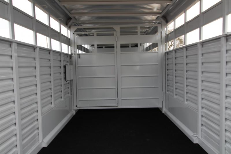 2018 Trails West Hotshot 24 ft. Steel Stock Trailer w/ Sliding Rear Gate - Extra Center Gate - Sort Doors in Center Gates