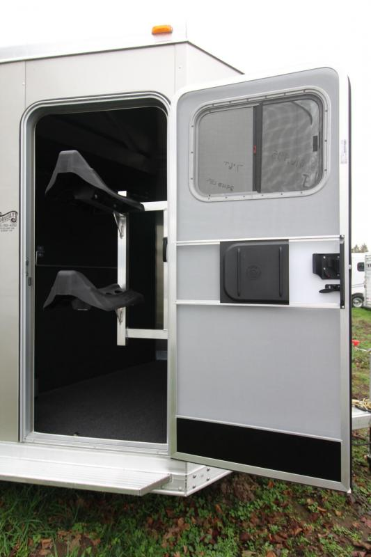 "2018 Exiss 720 - Polylast flooring - 7' 6"" Tall - 2 Horse Trailer - Large Tack Room!"