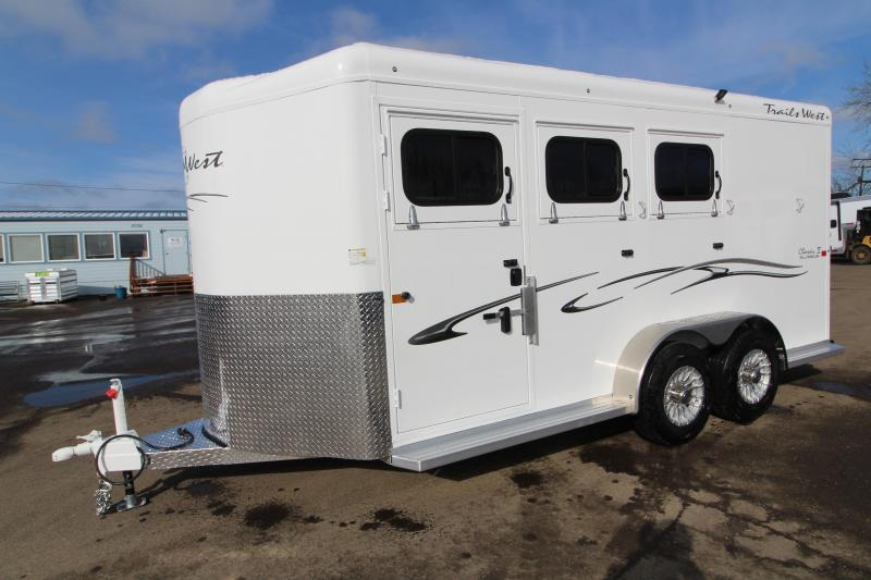 2019 Trails West Classic 3 Horse Trailer