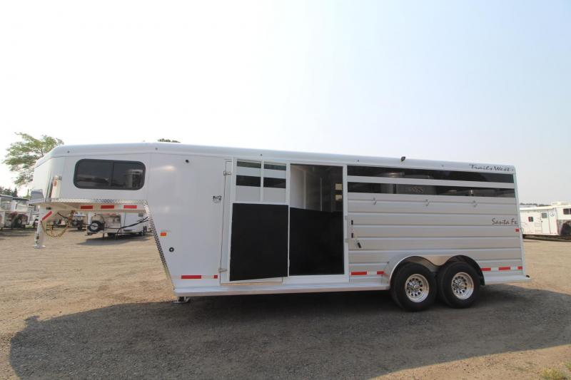 "2018 Trails West Santa Fe 21ft - ""Super Tack""  - 2 horse/Stock combo Trailer"