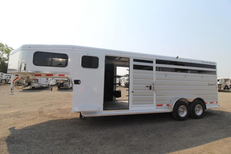 "2018 Trails West Santa Fe 21ft - ""Super Tack""  - 2 horse/Stock combo Trailer in Astoria, OR"