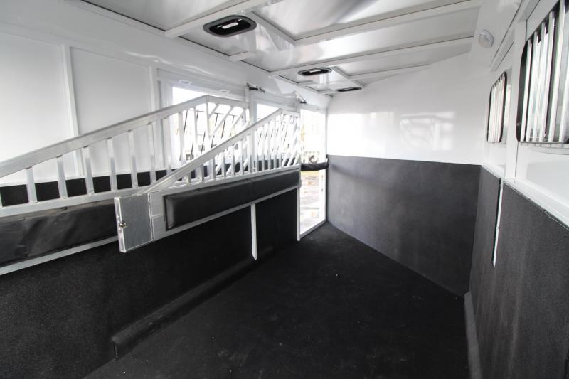 2018 Trails West Classic II -  3 Horse Trailer w/ Escape Door - Aluminum Skin Steel Frame