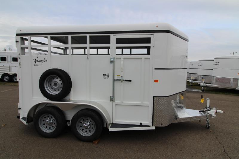 2019 Thuro-Bilt Wrangler 13' Open Livestock Trailer - Passenger Side Escape Door - Full Width Rear Door