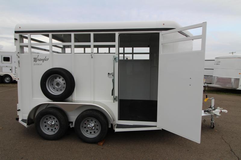 2019 Thuro-Bilt Wrangler 13' Open Livestock Trailer - Passenger Side Escape Door - Full Width Rear Door