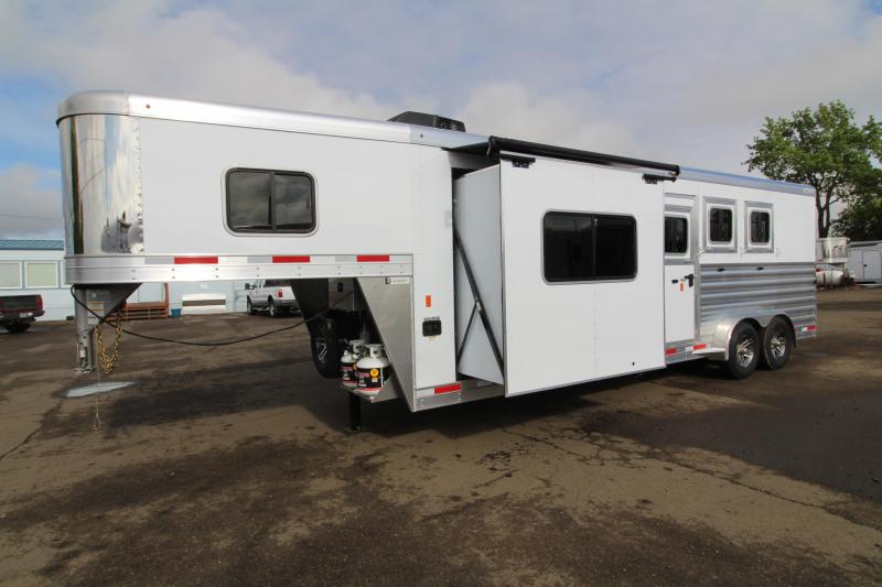2019 Exiss 7310 10' SW Living Quarters - Slide Out - Sofa - Sofa - Easy Care Flooring - Upgraded Airflow Dividers - All Aluminum