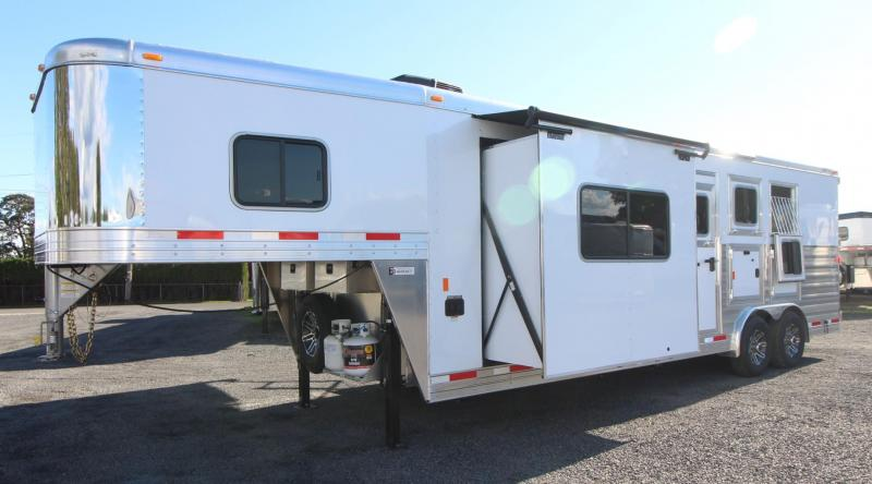 2019 Exiss Endeavor 8310 - 10ft Living Quarters w/ slide out - 3 Horse Trailer