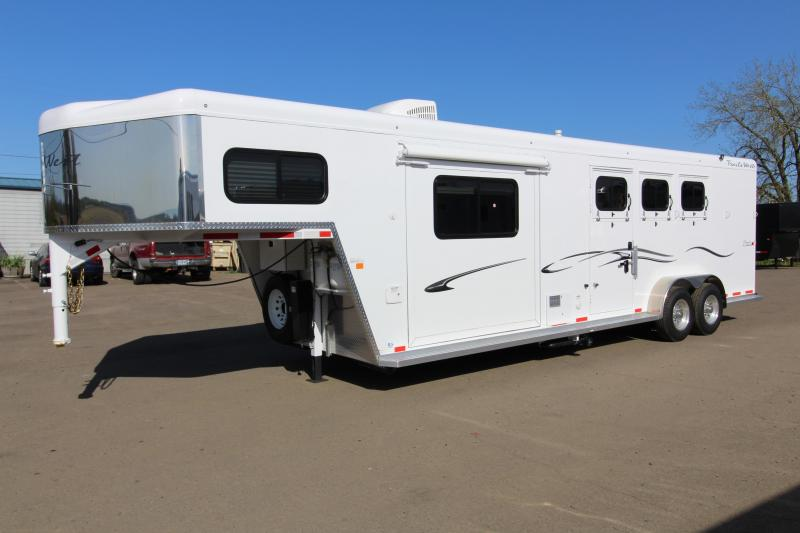 2018 Trails West Classic 10x10 - Side Tack - Slide - 10' SW 3 Horse Living Quarters Trailer