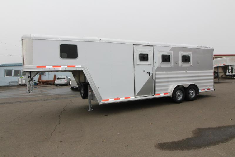 2019 Featherlite 8542 3 Horse Two Tone Gooseneck Trailer