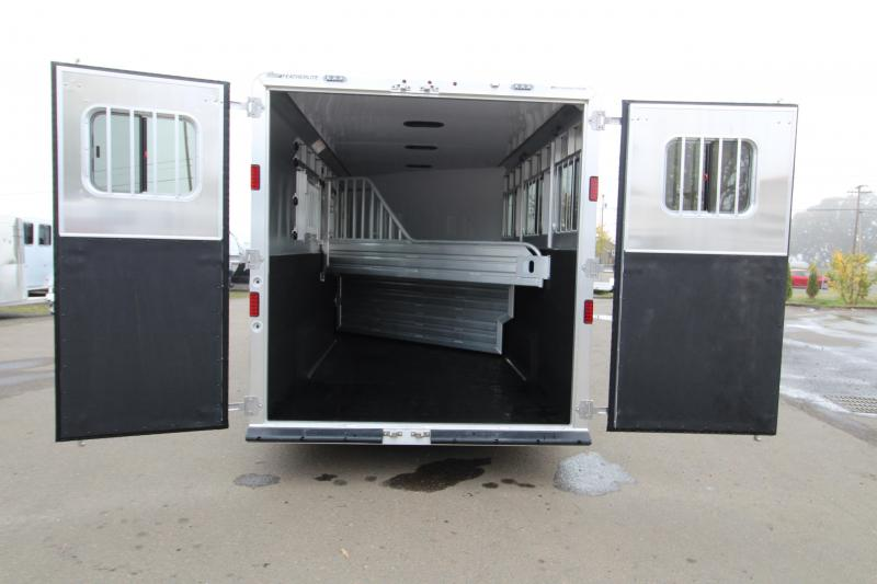 2019 Featherlite 8542 3 Horse Two Tone Gooseneck All Aluminum Trailer - Extra Wide and Extra Tall!