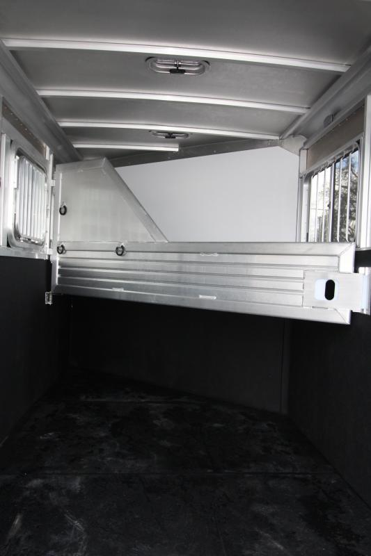 2018 Featherlite 9409 2 Horse Bumper Pull Trailer - All Aluminum - 7' Tall - Swing Out Saddle Rack