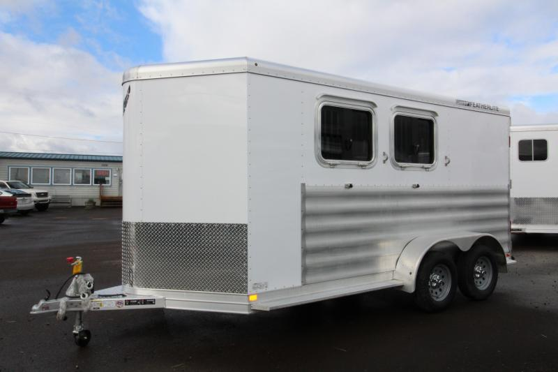 2018 Featherlite 9409 2 Horse Bumper Pull Trailer - All Aluminum - 7' Tall - Swing Out Saddle Rack - PRICE REDUCED  BY $1000 in New Pine Creek, OR