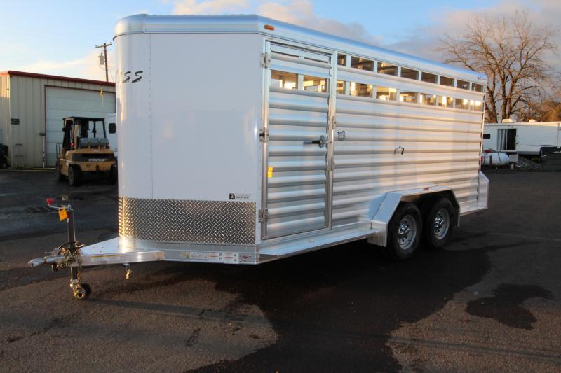 """2018 Exiss 716 All Aluminum Livestock Trailer - 7'2"""" Tall 16' Long"""