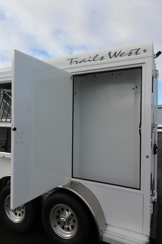 2019 Trails West Classic Aluminum Skin - Steel Frame -  2 Horse Trailer w/ Convenience Pkg - 7' Tall and Wide - Upgraded Broom Closet