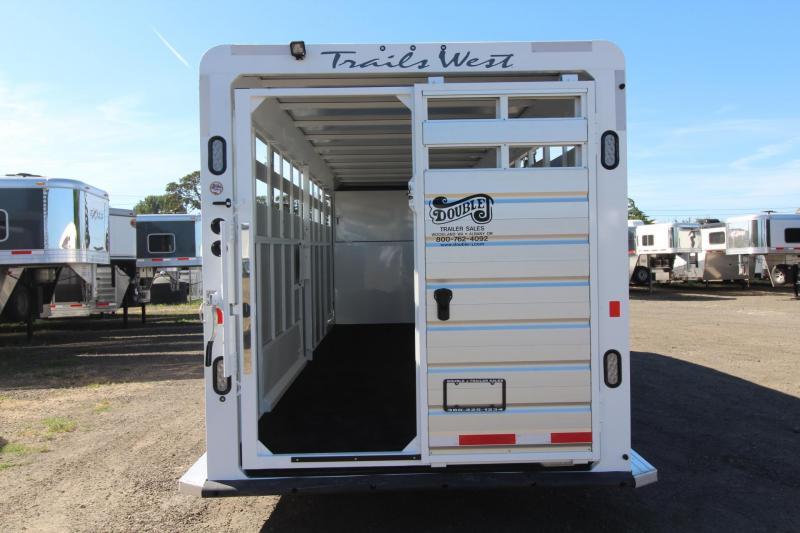 2017 Trails West Santa Fe Stock Trailer - Flood Light - Spare