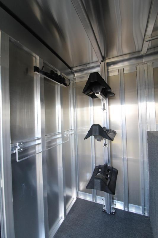 2018 Exiss 7200 Straight Load 2+1 Warmblood Horse Trailer - Box Stall w/ Ramp
