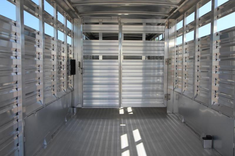 2020 Exiss STK 7020 - 20ft Aluminum Livestock Trailer
