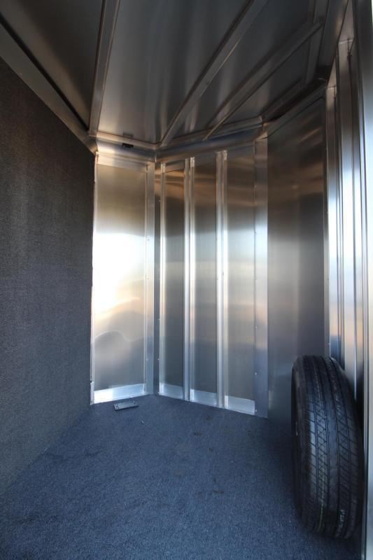 """2018 Exiss 730 - 3 Horse Trailer 7' 6"""" Tall - Large Tack Room and a Rear Tack! - Polylast flooring"""