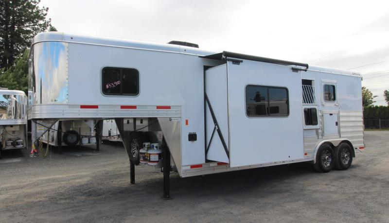 2019 Exiss Trailers 8210 - 10ft sw Living Quarters w/ Slide Out 2 Horse Trailer