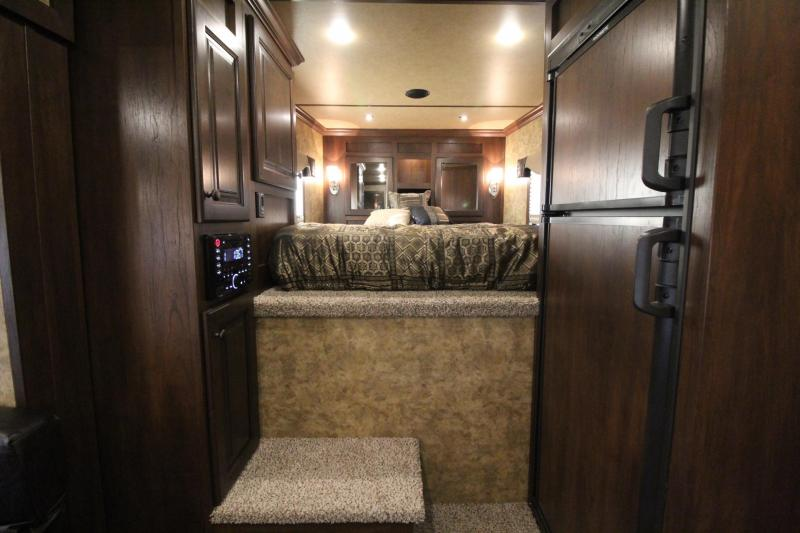 2019 Exiss Escape 7410 Living Quarters w/ 10ft short wall 4 Horse Trailer
