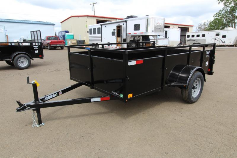 "2019 Eagle 6x10 Single Axle Lightspeed Utility Trailer -  24"" Ribbed metal sides - Split ""Lightspeed"" ramps - 2x6 Fir decking - Multi-leaf suspension - Sealed beam LED lights"