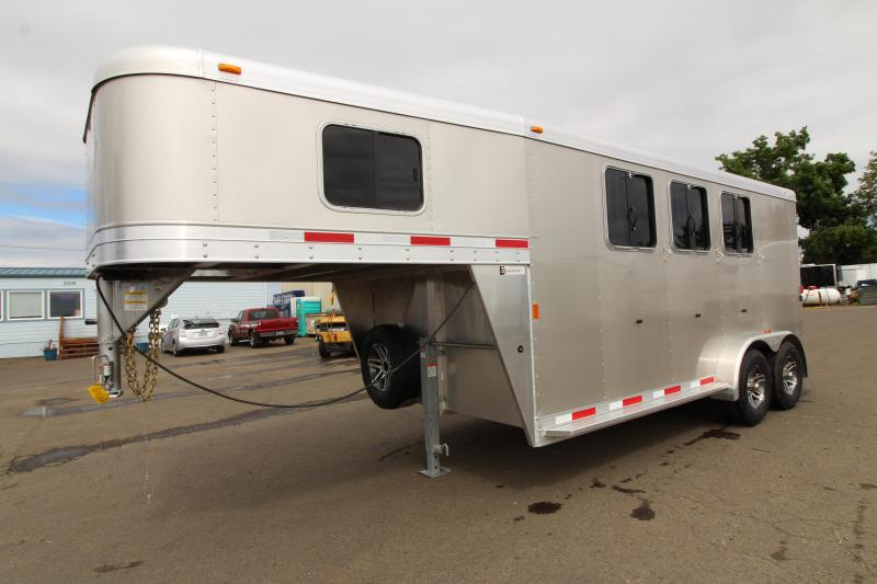 2018 Exiss Trailers Express SS 3 Horse GN Horse Trailer- Reduced due to damage