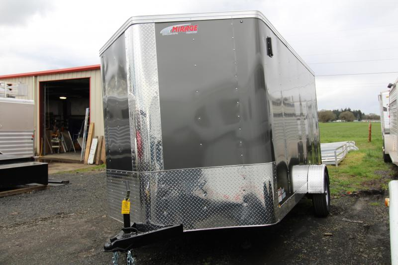 2019 Mirage  X-Pres 7x12 Enclosed Cargo Trailer - Rear Ramp - Charcoal Exterior .