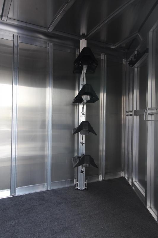 "2018 Exiss 7500 w/ 7000 lb. Axles - 7' 8"" Tall - Polylast Flooring -Escape Door- Stud Panel 5 Horse Gooseneck Trailer PRICE REDUCED $1600"