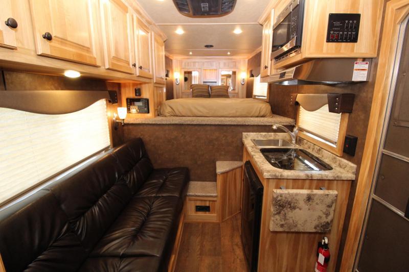 "2019 Exiss 7408 8'6"" SW LQ 4 Horse All Aluminum Trailer - 7'8"" Tall - Power Awning - Aluminum Wheels - Easy Care Flooring -Upgrade Interior Features - Sofa -"