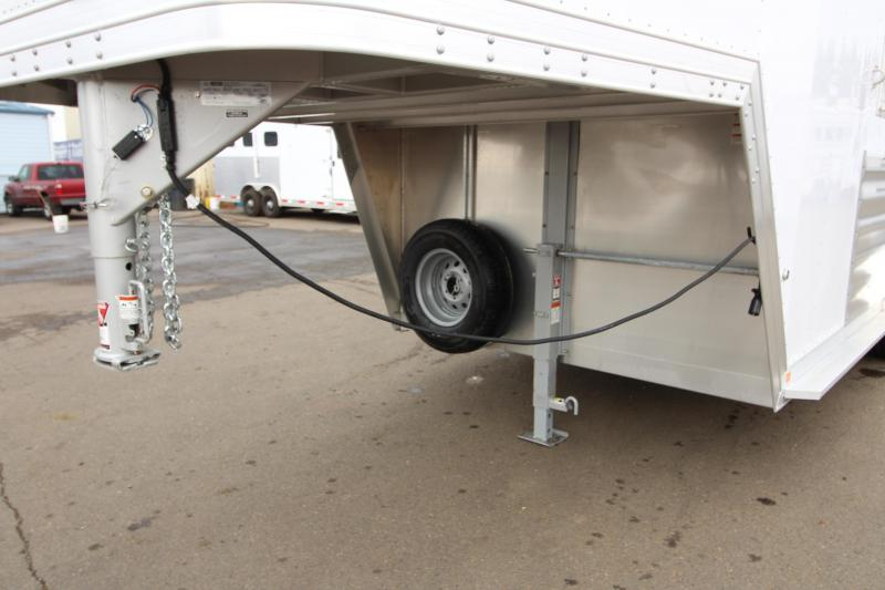 2019 Featherlite 8542 - 2 Horse Gooseneck Trailer - All Aluminum - EXTRA TALL AND WIDE - BIG horse Stalls - Dual Colored