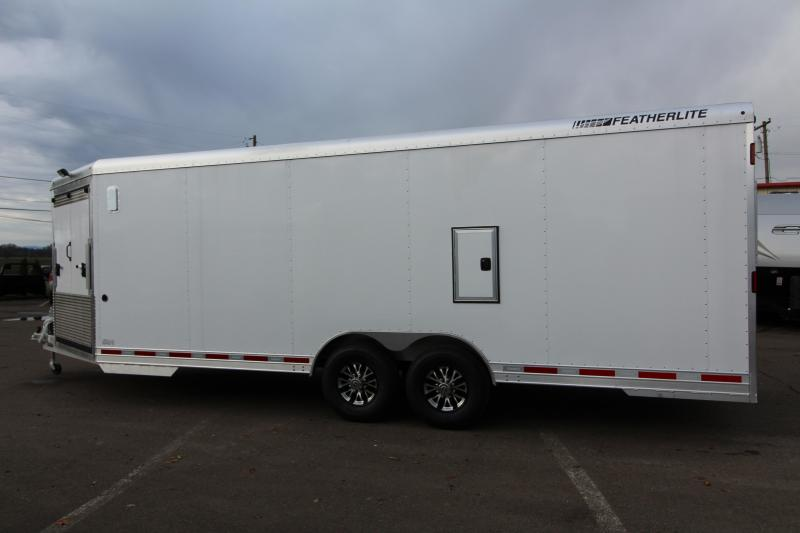 2018 Featherlite 4926 - 22u0027 Enclosed Car Trailer- All Aluminum - Nudo Flooring - Front Nose R& - 2 Fuel Doors REDUCED $360 & 2018 Featherlite 4926 - 22u0027 Enclosed Car Trailer- All Aluminum ...