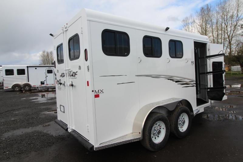 2018 Trails West Adventure MX 3 Horse Trailer - Aluminum Skin Steel ...