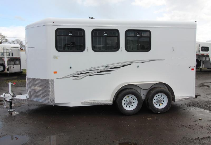 2018 Trails West Adventure MX 3 Horse Trailer - Aluminum Skin Steel Frame - Swing Out Saddle Rack -PRICE REDUCED