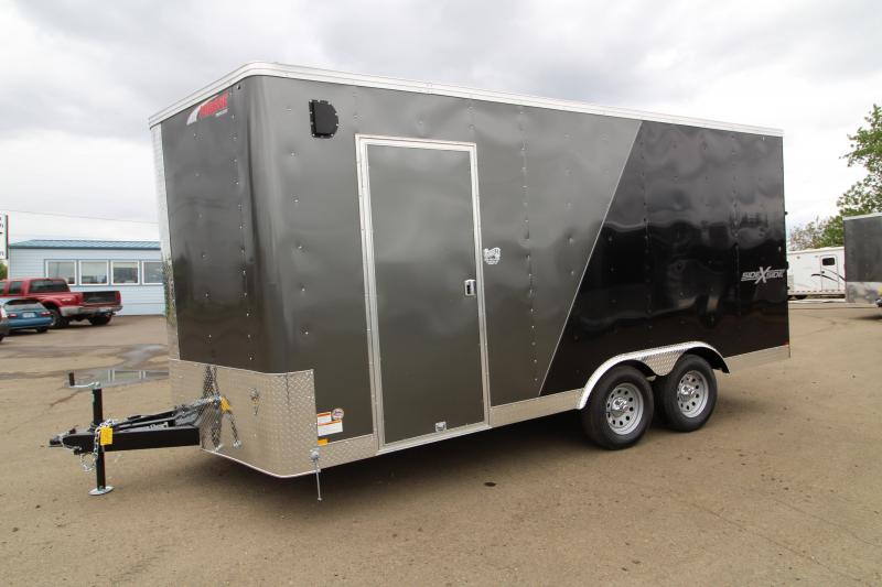 2019 Mirage Xpres - 8.5 x 16 Enclosed Cargo Trailer - Side By Side Package - Charcoal Metallic and Black Exterior Color