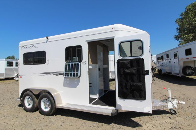 """2017 Trails West Royale SxST -PRICE REDUCED- 7'6"""" Tall Flood Light Rubber Floor in Tack 2 Horse Warmblood Trailer"""
