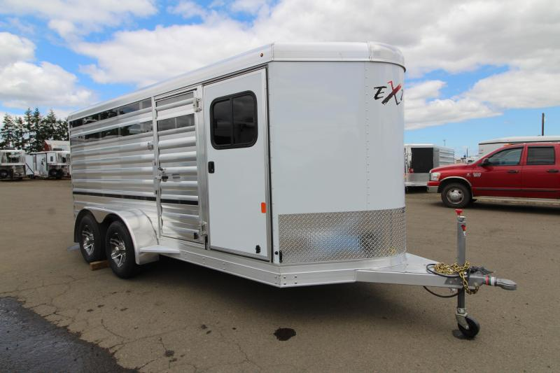2020 Exiss Exhibitor Mini 615 Stock Trailer w/ 60/40 Pen System - Tack Room - Rear Ramp