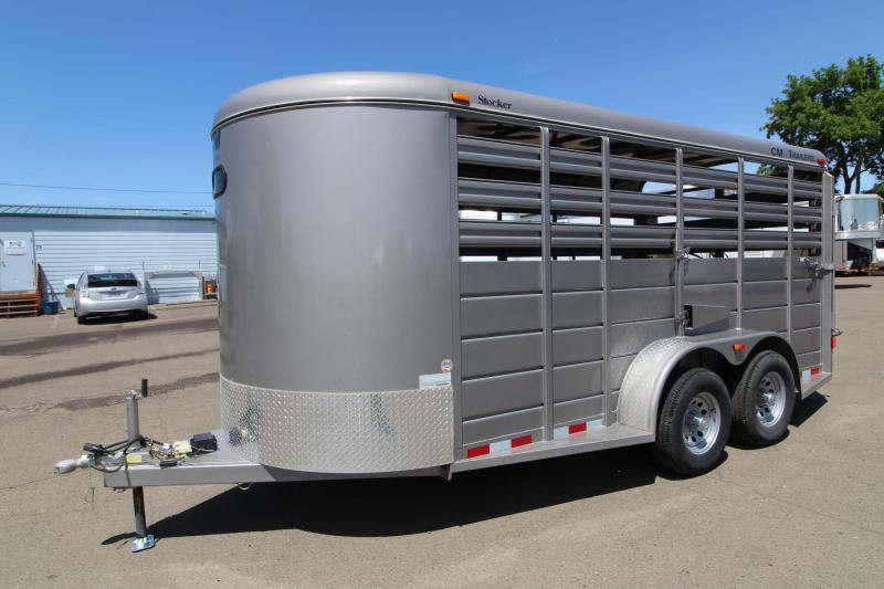 2016 CM Stocker 16 ' Steel Livestock Trailer in Ashburn, VA