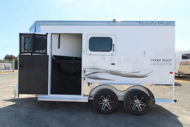 "2020 Trails West Sierra Select 7' 6"" Tall 2 Horse Trailer - Seamless Aluminum vacuum bonded walls and roof"