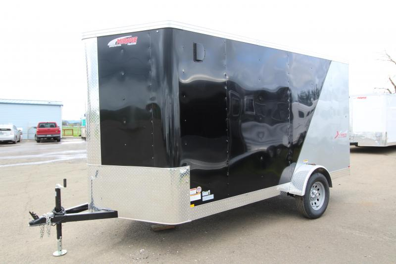 2019 Mirage Trailers Xpres- 6x12 Single Axle - Black & Charcoal - Upgraded Xtra Package Enclosed Cargo Trailer - with Rear Ramp