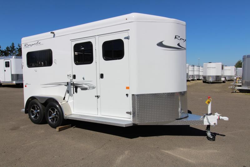 "2019 Trails West Royale Plus 2 Horse Straight Load 7'6"" Trailer - Steel Frame Aluminum Skin"