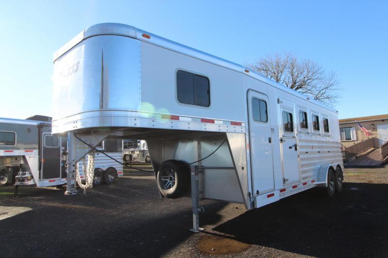 "2018 Exiss 7400 - 7'6"" Tall 4 Horse Trailer - Rear Tack - UPGRADED Easy Care Flooring - Jail Bar Dividers"
