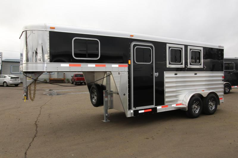 "2018 Exiss 7200  - 2 Horse Trailer - All Aluminum - Stud Wall - UPGRADED Easy Care Flooring - 7'8"" Tall"