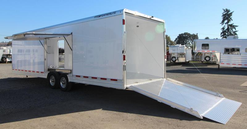 2019 Featherlite 4926 30ft Enclosed Car Trailer w/ vending door - lined and insulated Price Reduced $1300