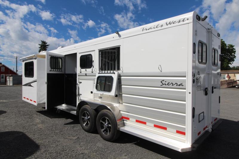 2019 Trails West Sierra 10x15 Living Quarters 3 Horse Trailer