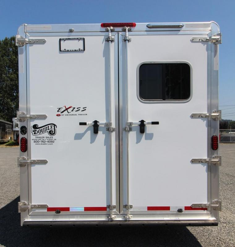 2018 Exiss 8310 - 10ft short wall - 3 Horse Living Quarters Trailer