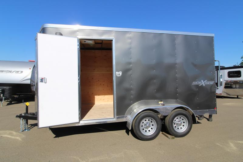 2019 Mirage Xpres 7X14 Side by Side Package Enclosed Cargo Trailer - Charcoal Metallic Exterior Color