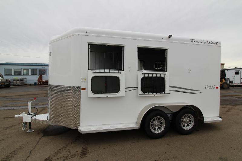 "2019 Trails West Classic 2 Horse Trailer - 7'6"" Tall - Warmblood Stalls"